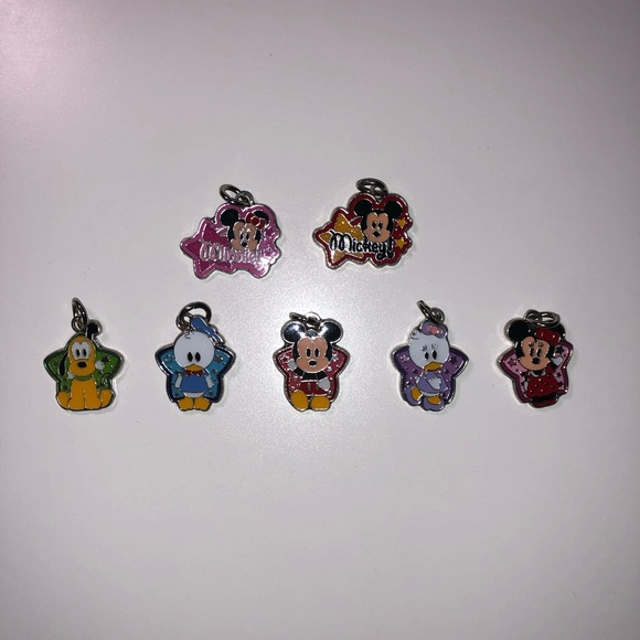Disney Character Necklace Pendants Set